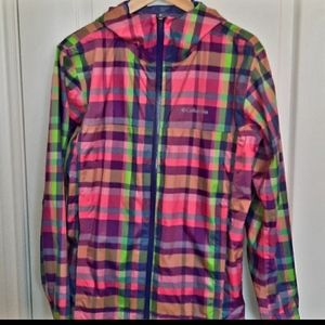 COLUMBIA lightweight plaid jacket